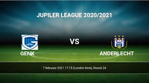 Genk vs Anderlecht H2H 7 feb 2021 Head to Head stats prediction