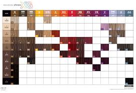 Paul Mitchell The Color Xg Chart Paul Mitchell Shines Xg Swatch Chart 2014 In 2019 Paul