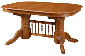 solid oak wood classic oval extension table in chestnut finish