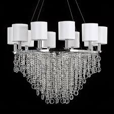 modern polished chrome swarovski crystal chandelier