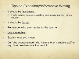 informative writing informative expository an informative essay tips on expository informative writing it should be fact based