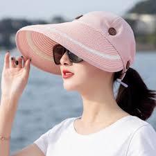 Wide Brim <b>UV Protection</b> Cap Beach Outdoor <b>Holiday Seaside</b> ...