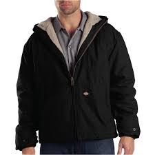 ies men x large duck sherpa lined hooded rinsed black jacket