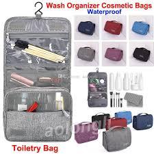uni travel hanging toiletry bag wash makeup bag cosmetic bags with hook organizer bag waterproof large capacity bathroom bags makeup