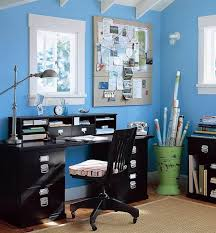 blue home office. What Color To Paint Office. Office E Blue Home