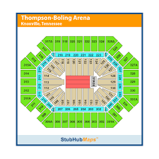 Thompson Boling Arena Seating Chart With Rows Thompson Boling Arena Events And Concerts In Knoxville