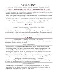 Cosmetology Resume Template Commily Com