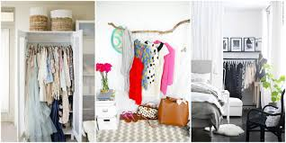 No Furniture Living Room Storage Ideas For A Bedroom Without A Closet Genius Clothing