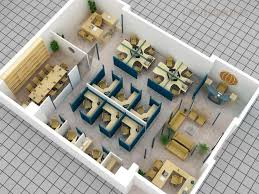 designing office layout. 3d office layout plan with cubicle meeting room reception and lobby designing
