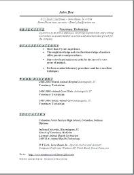 Resume Template No Experience Amazing Vet Resume Resume For Vet Tech Sample Vet Tech Resume Elegant