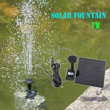 solar powered water pump garden yard fountain waterfall pond outdoor bird bath