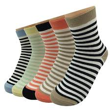 Striped Ankle Socks Women <b>Cotton</b> Sexy Casual Short Sock (<b>5</b> ...