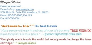 Email Signature Quotes Custom Email Signature Do's And Don'ts Sigstr