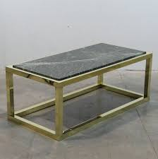 spanish vintage marble brass coffee table 1970s