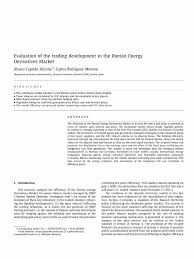 Evaluation Of The Trading Development In The Iberian Energy ...