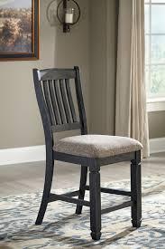 upholstered bar stools. Tyler Creek - Black/Gray Upholstered Barstool (2/CN) Bar Stools