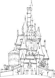 Dessin Chateau A Imprimer Dessincoloriage Coloriages Disney Fr