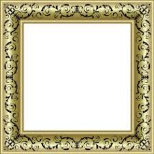 black and gold frame png. Gold Photo Frame PNG With Black Ornaments And Png C
