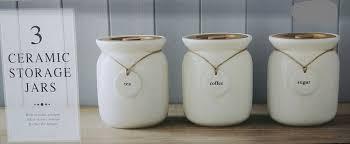 unique vintage wooden lid ceramic tea coffee sugar canisters storage jar set uk