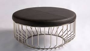 Furniture Astounding Modern Round Ottoman Ideas Modern Ottomans Or