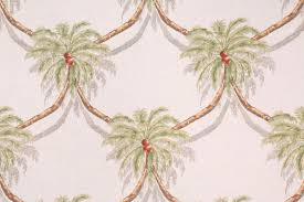 tropical fabrics and wallcoverings by ginny stine palm tree trailage printed linen dry fabric in fern