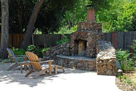diy outdoor stone fireplace plans rock fireplaces garden design magnificent transforms shady