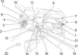 2004 2009 toyota corolla verso (ar10) fuse box diagram fuse diagram  at How To Open Panel Fuse Box Toyota Corolla 2004