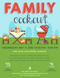 Family Cookout Event Flyer Poster Template Invitation