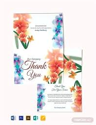 Open Office Greeting Card Templates Folded Thank You Card Template Template Quarter Fold Thank