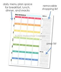 Free Printable Meal Planner With Snacks Download Them Or Print