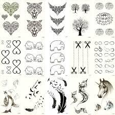 30ks Falešné Dočasné Vodotěsné Tetování Vodní Transfer Jelen Elephant Samolepky Krása Body Art Cool Makeup živé Song X30zh 02