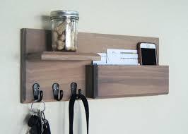 coat rack mail organizer key shelf and pocket hooks weathered driftwood  finish racks . coat rack mail organizer entryway hooks key ...