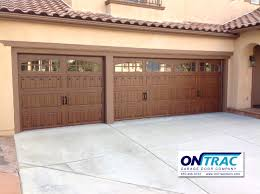 Faux Garage Door Hardware Steel Walnut Wood Grain Garage Door With Decorative Hardware