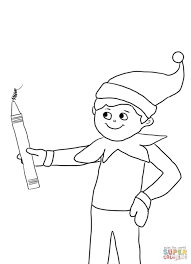 Small Picture Coloring Pages Elf On The Shelf Poem Elf On The Shelf Printable