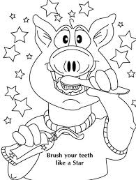 Small Picture Dont Forget to Brush Your Teeth in Dental Health Coloring Page