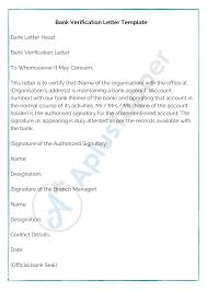 Tailored to fit your unique situation. Bank Verification Letter How To Write Bank Verification Letter Format Samples A Plus Topper