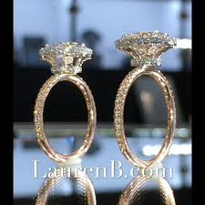 lauren b on insram two two tone halo designs based off model lsr 18787 one features a round center while the other is oval
