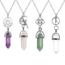 image is loading gemstone crystal quartz pendant yoga reiki healing stone