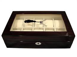 wooden watch boxes 4himonly the store for mens luxury goods and 10 watch storage display case in ebony cor del