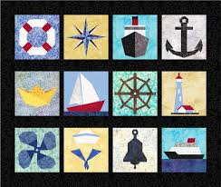 12 Nautical Quilt Block Patterns, Boats, Ships, Anchor ... & 12 Nautical Quilt Block Patterns, Boats, Ships, Anchor - Foundation Paper  Piece Patch - PDF Download Adamdwight.com