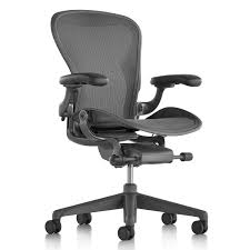 Aeron Office Chair remastered, Carbon by Herman Miller Office ...