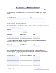 Free As Is Bill Of Sale How To Sell An Llc Free Llc Membership Bill Of Sale Form