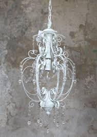 Deckenleuchte Vintage Weiß Kronleuchter Lüster Lampe Weiß