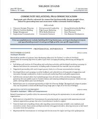 Creative Community Relations Manager Resume Astounding Free Samples