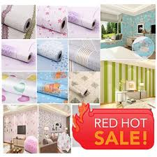 48 design new modern decor 3d self adhesive pvc waterproof wallpaper with gift