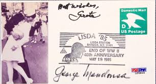vj day new york city times square the kiss cachet signed by nurse sailor psa dna coa
