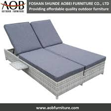 garden furniture rattan beach bed double sun lounger outdoor functional daybed