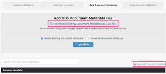 Upload and download metadata – Archive-It Help Center