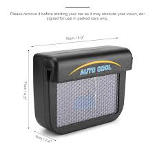 Schwarz Solar Sun Power Auto Fenster Ventilator Auto Kühle Luft Vent