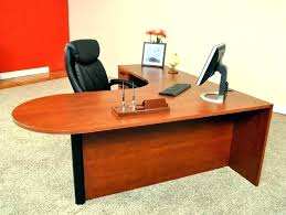 bestar hampton wood home office corner computer desk in tuscany brown l shaped dual u